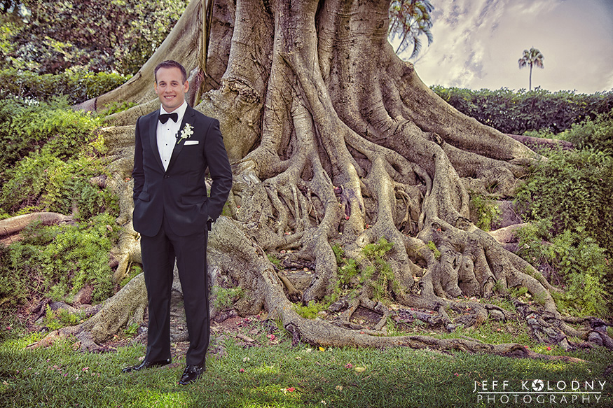 Groom at the Biltmore Hotel in Coral Gables.