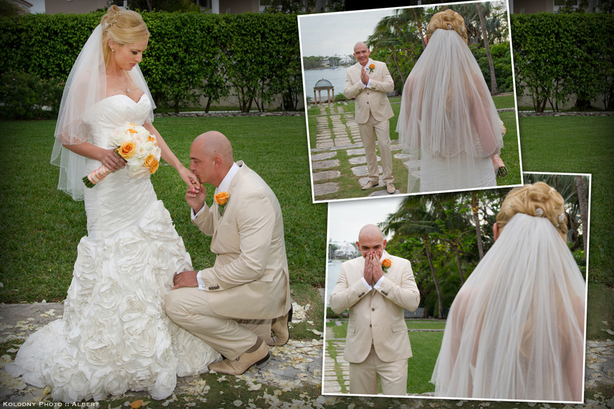 The first look took place at the The Cloisters which is a beautiful location for Paradise Island pictures.