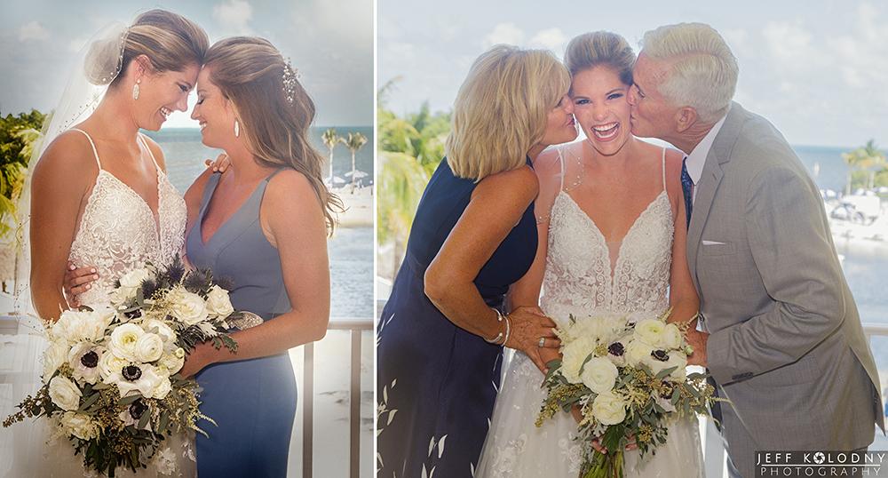 Family wedding photos taken at the Ocean Reef Club in Key Largo