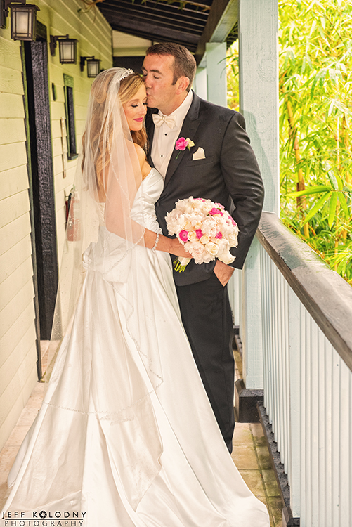 Wedding picture taken at the Sundy House in Delray Beach