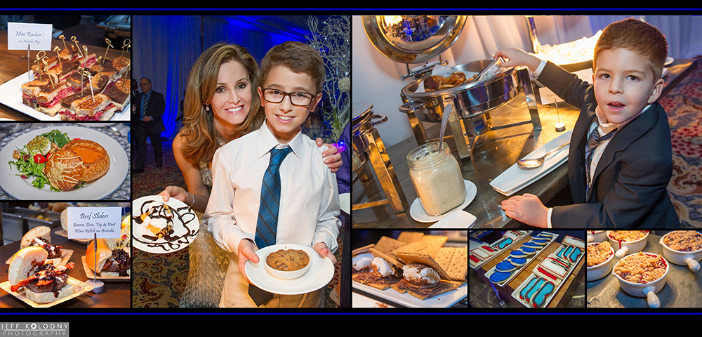 Food and party pictures taken at a Boca Raton Bar Mitzvah.