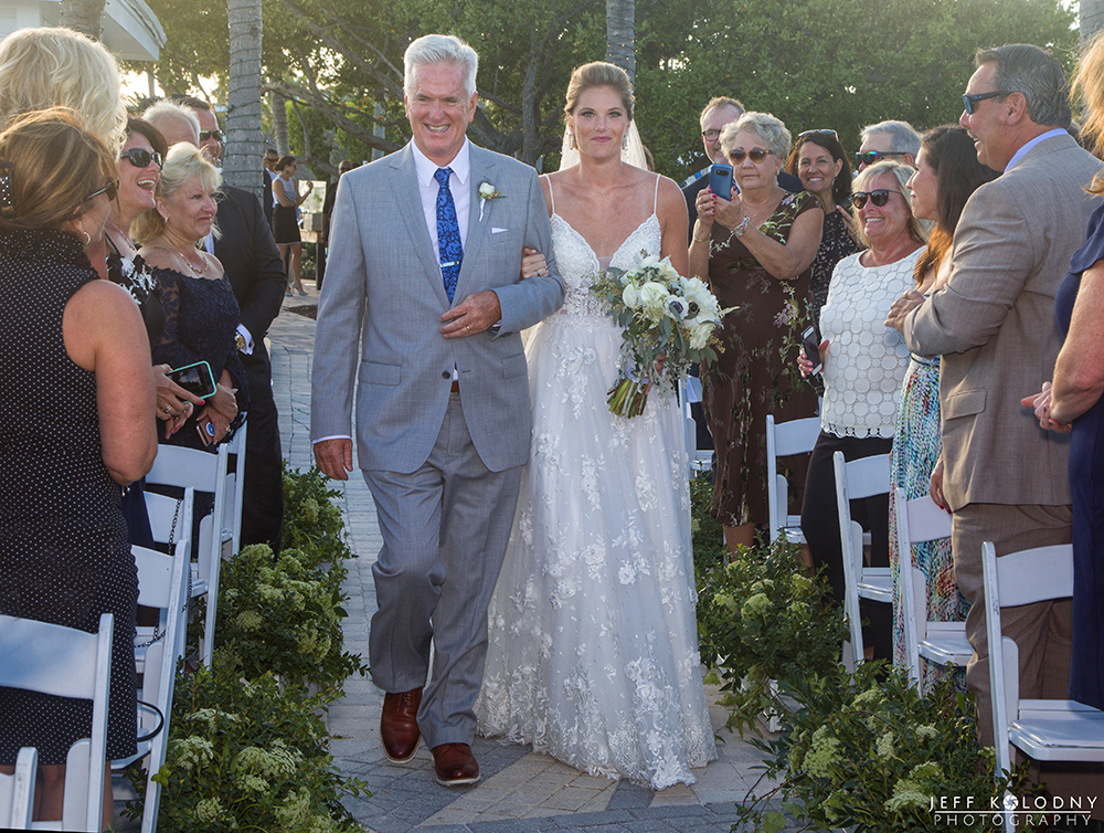 This Ocean Reef Club Wedding started at the perfect time and at the perfect place, The Point.