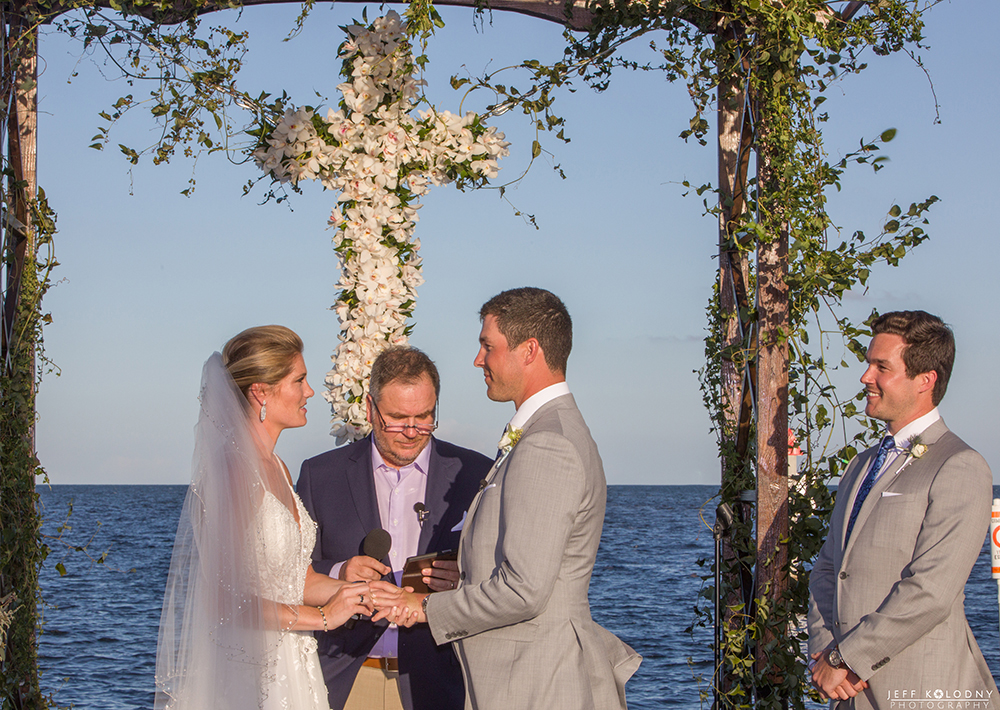 Ocean Reef Club wedding ceremony taking place on The Point.
