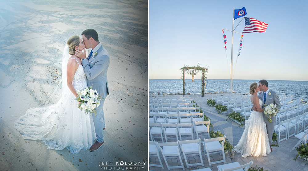 Ocean Reef Club wedding picture taken on The Point.