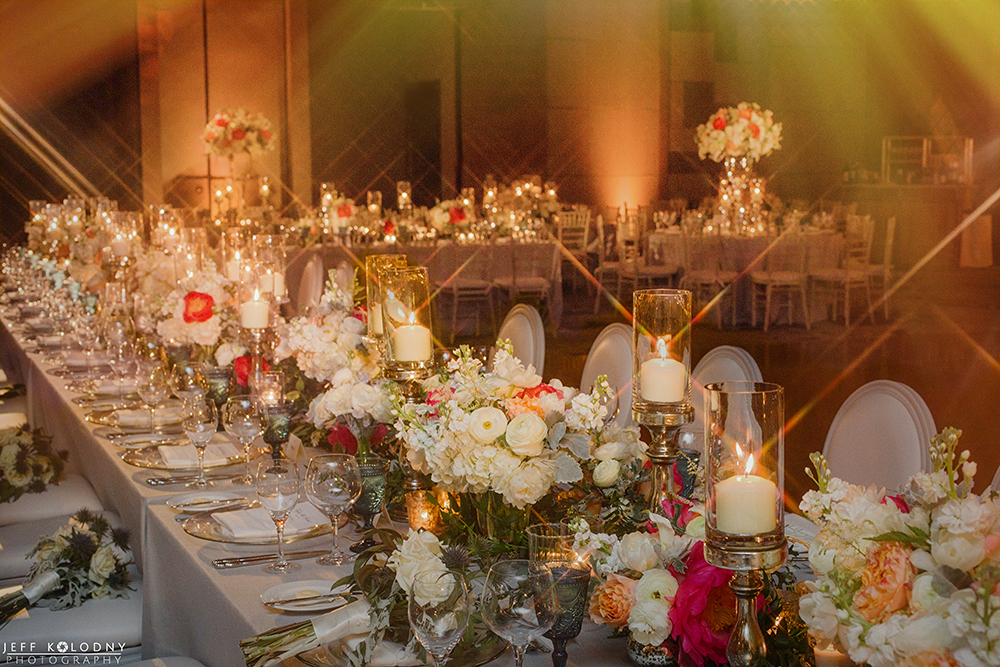 Ballroom photo taken at an Ocean Reef Club wedding.