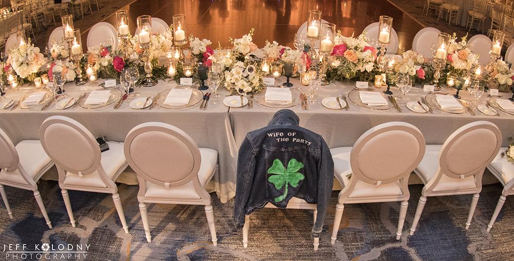 Wedding reception decor at the Ocean Reef Club in Key Largo.
