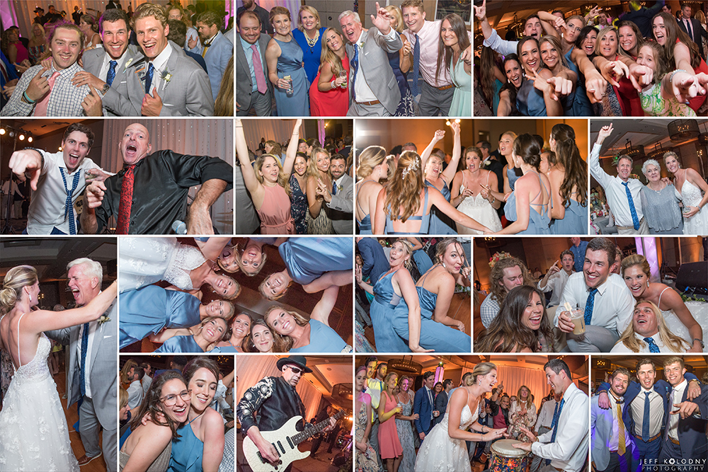 Wild reception party pictures at a Ocean Reef Club wedding.