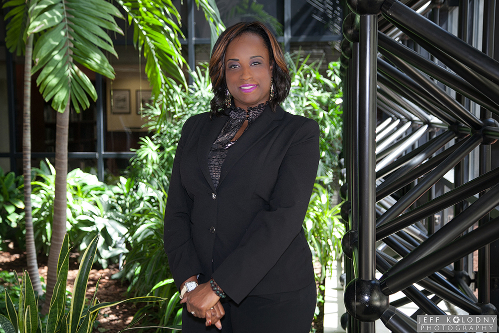 This corporate portrait was taken in the lobby of a Fort Lauderdale corporate office building.
