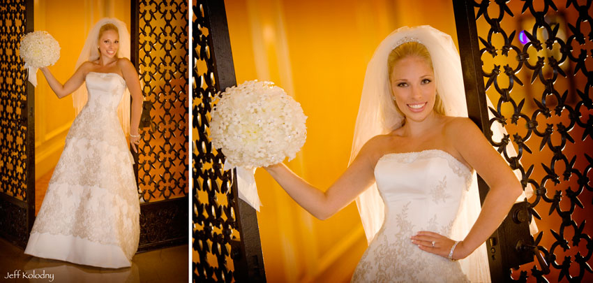 Bridal photo taken at The Breakers in Palm Beach Florida.
