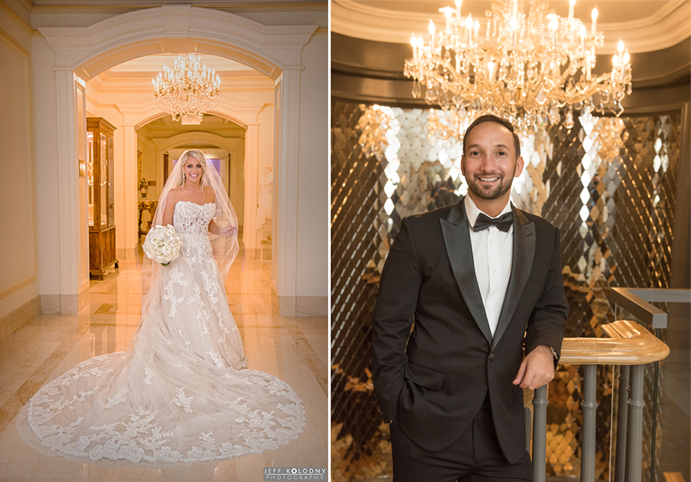 Bride and Groom portraits taken at the Eau Hotel in Palm Beach, Florida.