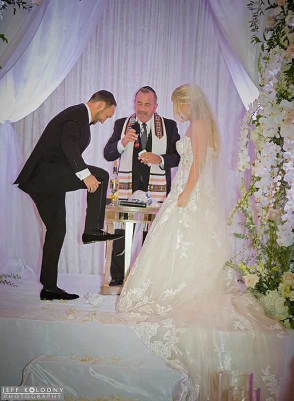 Palm Beach Jewish wedding ceremony photo.