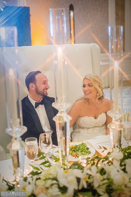 A special moment captured during one of the reception toasts at The Eau Palm Beach