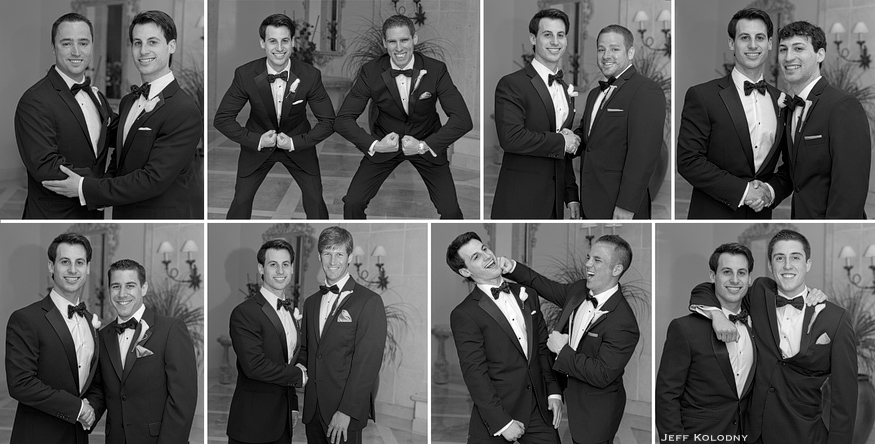 Groom and each groomsman pictures.