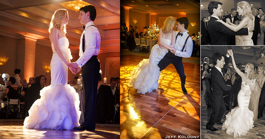 Bride and groom's first dance pictures at their Palm Beach wedding.