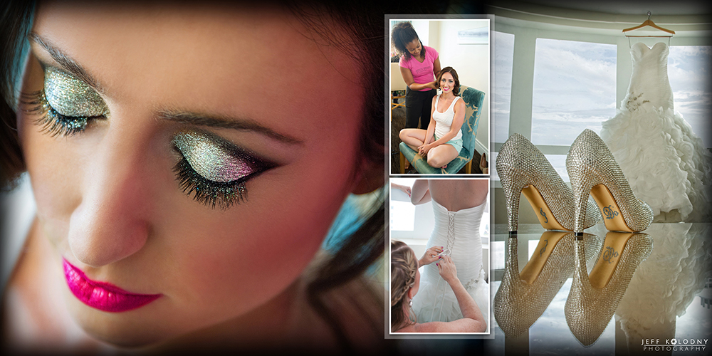 Bride getting ready for her Fontainebleau Miami Beach wedding.