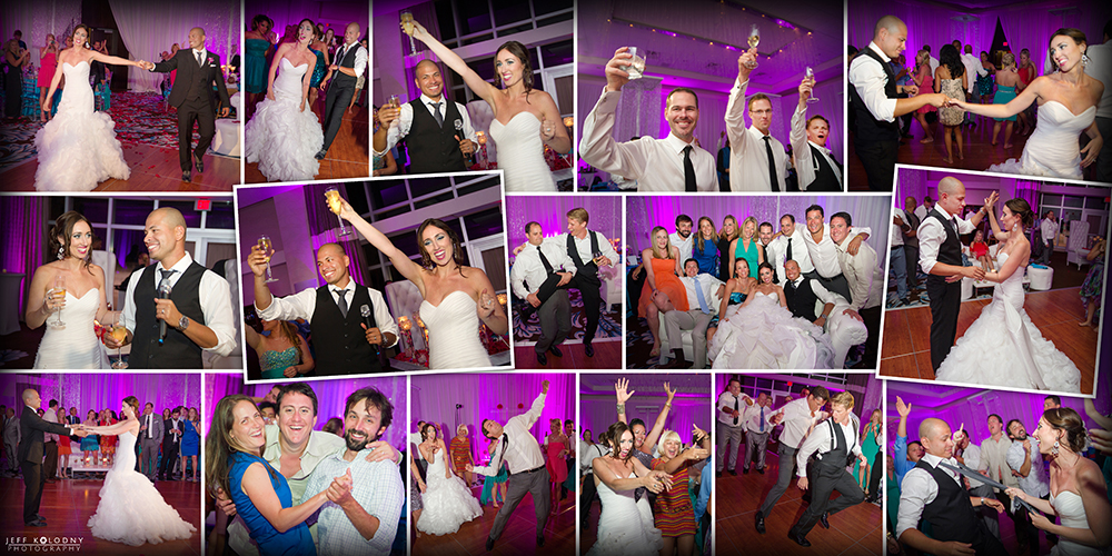Everyone has a great time at this fun, high energy wedding reception.