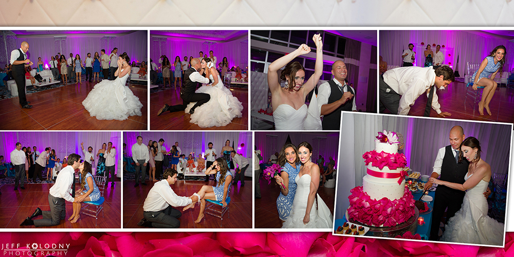 Action wedding reception pictures taken at the Fontainebleau, Miami Beach