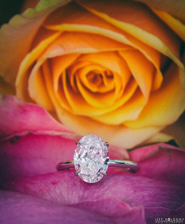 wedding ring photo taken during a South Florida marriage proposal.