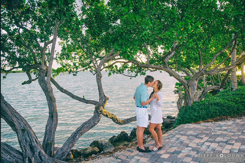 Scenic engagement picture taken at the Ocean Reef Club.
