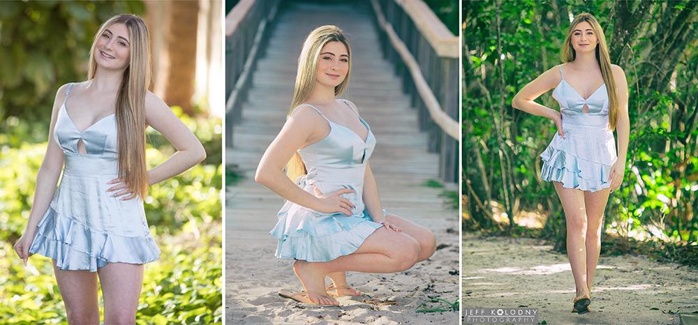 Senior photo session at a Boca Raton Beach