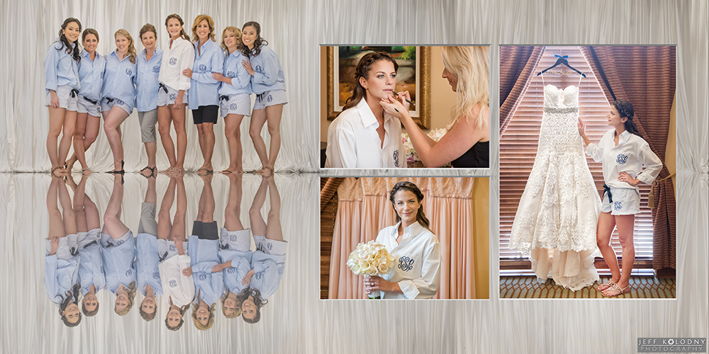 Bride and her girls getting ready for a Parkland Country Club wedding