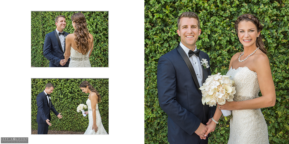 Bride and Groom's First Look at Parkland Country Club.