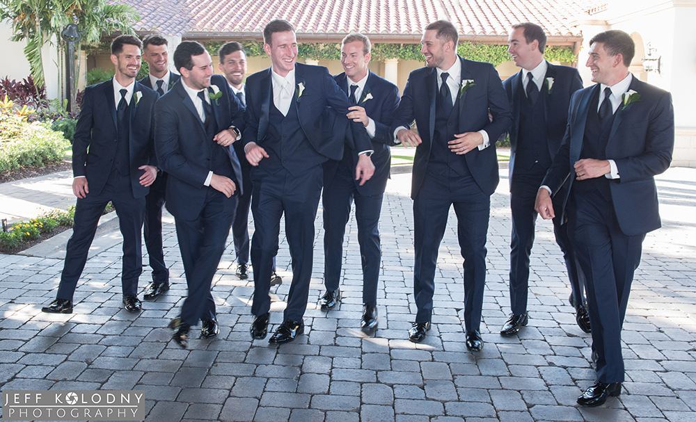 Groom and his guys fun picture taken during the bridal party photography session.