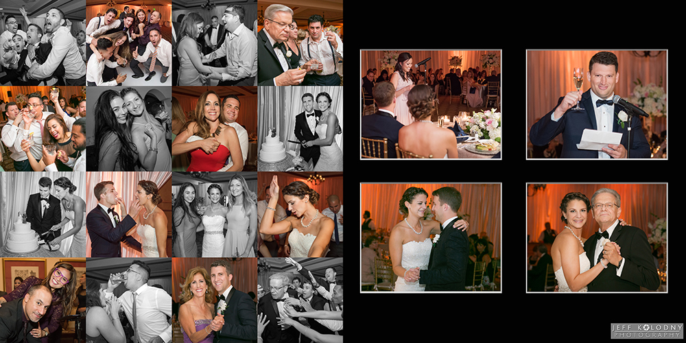 Wedding reception party pictures. Including, dance pictures, toast pictures, and parent dances.