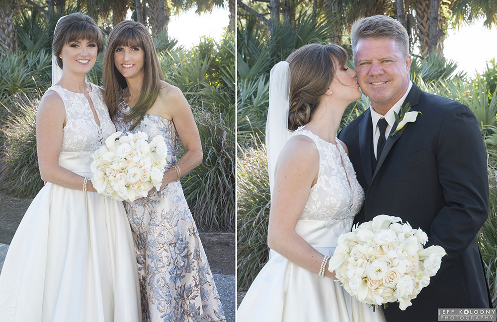 Bride with her mother and bride with her father taken at Trump Jupiter.
