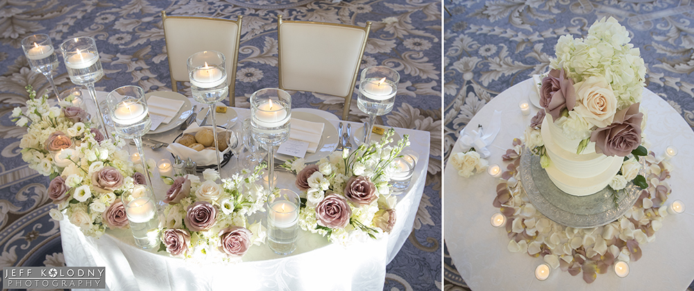 In this picture you can see have the natural colored carpet works well for a wedding venue.