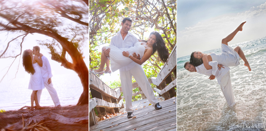Engaged couple photographed in Boca Raton.